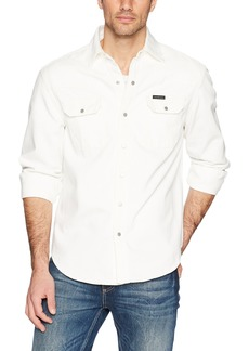 Calvin Klein Men's Long Sleeve Denim Button Down Shirt  S