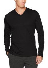 Calvin Klein Men's Long Sleeve Double Collar V-Neck Shirt  2X-Large