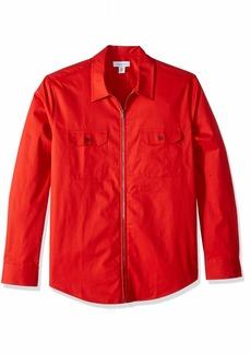 Calvin Klein Men's Long Sleeve Full Zip Shirt  2X-Large