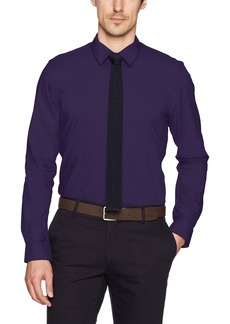 Calvin Klein Men's Long Sleeve Infinite Mini Check Button Down Shirt
