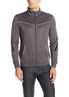Calvin Klein Men's Long Sleeve Mock Neck Elite Track Jacket  2X-LARGE