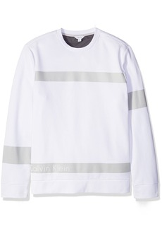 Calvin Klein Men's Long Sleeve Ponte Knit Pullover  SMALL