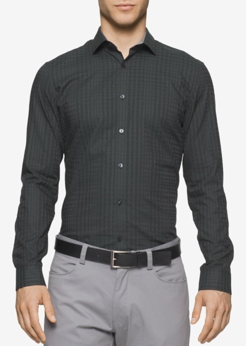 Calvin Klein Men's Long-Sleeve Shadow Plaid Shirt
