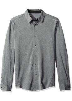 Calvin Klein Men's Long Sleeve Snap Front Commuter Shirt