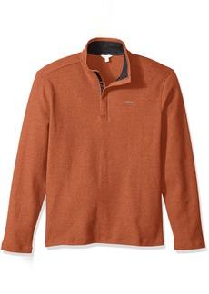Calvin Klein Men's Long Sleeve Solid Mock Neck Pullover  SMALL