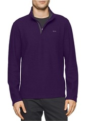 Calvin Klein Men's Long Sleeve Solid Mock Neck Pullover  SMALL