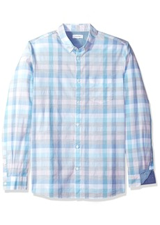 Calvin Klein Men's Long Sleeve Woven Button Down Shirt  M