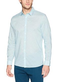 Calvin Klein Men's Long Sleeve Woven Button Down Shirt  M