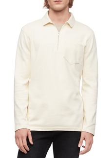 Calvin Klein Men's Long-Sleeve Zip Polo