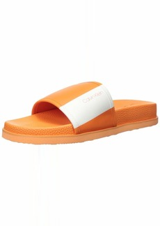 Calvin Klein Men's Mackee Slide Sandal   Medium US
