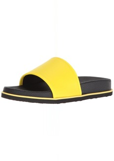 Calvin Klein Men's MACKEE Tumbled Brushed SMTH Slide Sandal   M M US