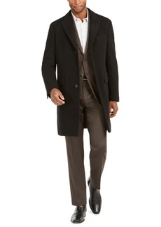 Calvin Klein Men's Malibu Slim-Fit Black Overcoat
