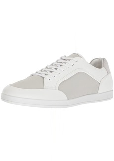 Calvin Klein Men's Mason Brushed Leather Sneaker   Medium US