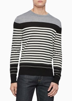 Calvin Klein Men's Merino Colorblock Striped Sweater