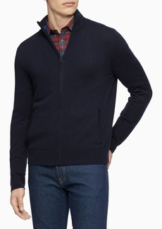 Calvin Klein Men's Merino Wool Full-Zip Sweater