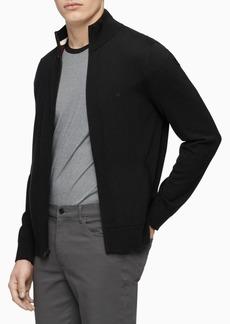 Calvin Klein Men's Merino Wool Full-Zip Sweater