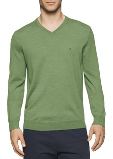 Calvin Klein Men's Merino Solid V-Neck Sweater  2X-Large