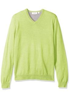 Calvin Klein Men's Merino Solid V-Neck Sweater  LARGE