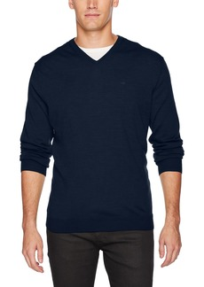 Calvin Klein Men's Merino Solid V-Neck Sweater Zimone Blue 2X-Large
