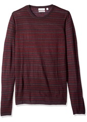 Calvin Klein Men's Merino Stripe Crew Neck Sweater