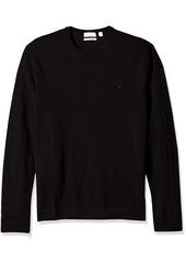 Calvin Klein Men's Merino Tipped Crew Neck Sweater  LARGE