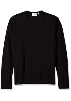 Calvin Klein Men's Merino Tipped Crew Neck Sweater  X-LARGE