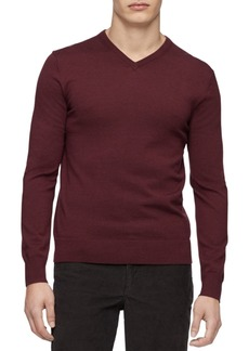 Calvin Klein Men's Merino V-Neck Sweater