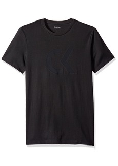 Calvin Klein Men's Mesh Ck Logo Welded Print Crew Neck T-Shirt
