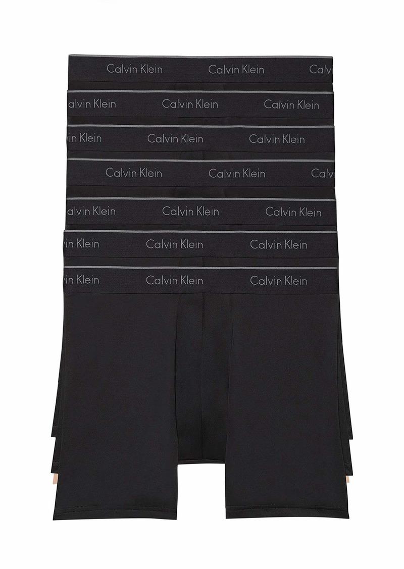 Calvin Klein Men's Microfiber Stretch Multipack Boxer Briefs 7 BLACK