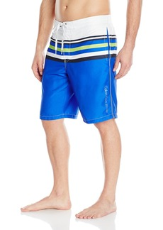 Calvin Klein Men's Microfiber Stripped E-Board Short