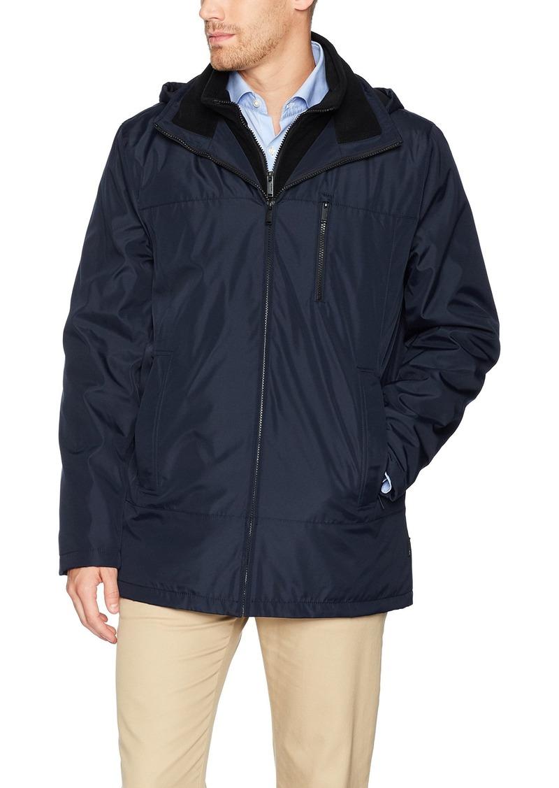 Calvin Klein Men's Midweight Hooded Jacket with Fleece Bib