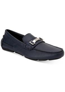 Calvin Klein Men's Mikos Tumbled Leather Drivers Men's Shoes
