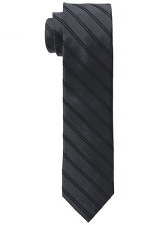 Calvin Klein Men's Mirror Double Stripe Slim Tie