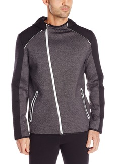 Calvin Klein Men's Mix Media Interlock Performance Zip Hoodie