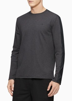Calvin Klein Men's Mixed-Media Shoulder-Stripe Shirt