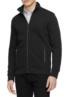 Calvin Klein Men's Mock-Neck Jacquard Zip Sweater