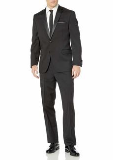 Calvin Klein Mens Wool Formal Tuxedo black  Regular / 30W x 34L