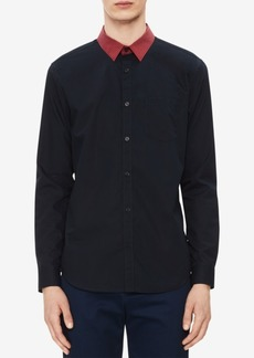 Calvin Klein Men's Modern Fit Striped-Collar Shirt