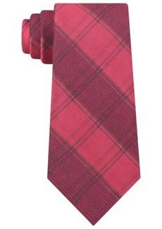 Calvin Klein Men's Molten Macro Plaid Slim Tie