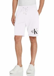 Calvin Klein Men's Monogram Logo Fleece Casual Lounge Short