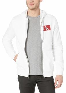 Calvin Klein Men's Monogram Logo Full-Zip Hooded Sweatshirt
