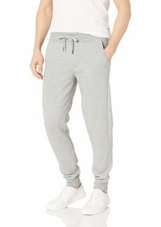 Calvin Klein Men's Monogram Logo Jogger Sweatpants  Charcoal Heather Mediun