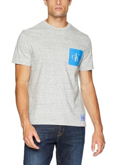 Calvin Klein Men's Monogram Logo T-Shirt gravel black NEP heather