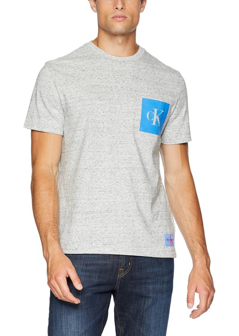 Calvin Klein Men's Monogram Logo T-Shirt gravel black NEP heather