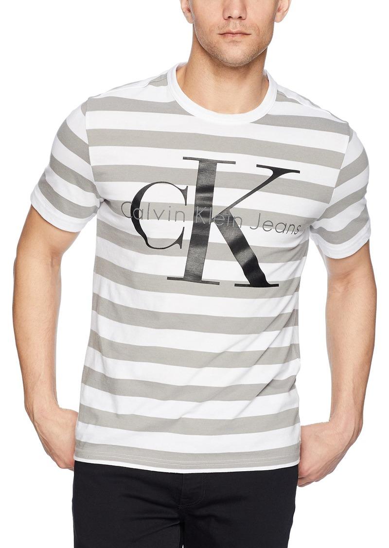 Calvin Klein Men's Monogram Logo T-Shirt standard white