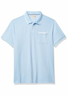 Calvin Klein Men's Move 365 Short Sleeve Quick Dry Moisture Wicking Logo Polo Shirt  2X-Large