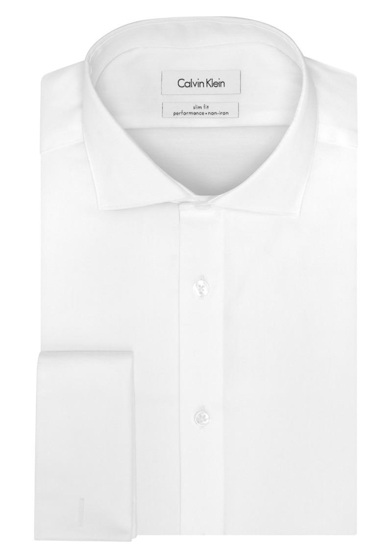 Calvin Klein Men's Non Iron Slim Fit French Cuff Dress Shirt