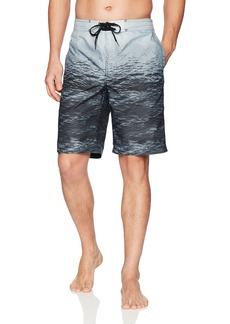 Calvin Klein Men's Ocean Stripe Printed Board Short  Extra Large