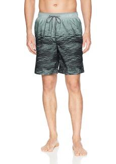 Calvin Klein Men's Ocean Stripe Printed Swim Trunk