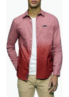 Calvin Klein Men's Ombre Button-Down Long Sleeve Shirt